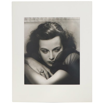"George Hurrell Silver Gelatin Photograph ""Hedy Lamarr,"" Late 20th Century"