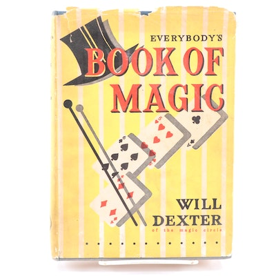 "First Edition, First Printing ""Everybody's Book of Magic"" by Will Dexter, 1956"