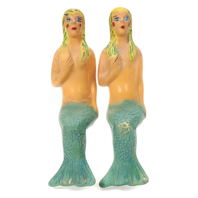 Ceramic Seated Mermaids, Mid to Late 20th Century