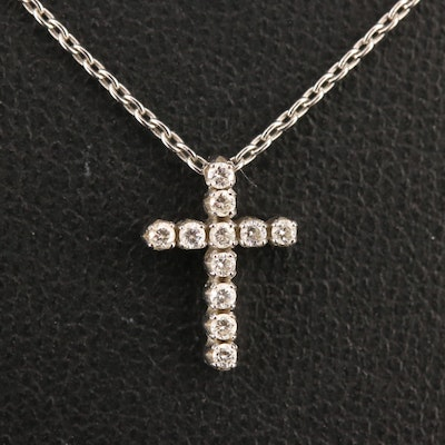 18K Diamond Cross Necklace