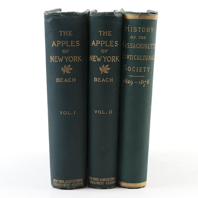 """The Apples of New York"" Two-Volume Set by S. A. Beach and More"
