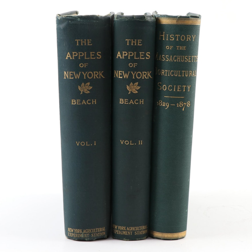 """""""The Apples of New York"""" Two-Volume Set by S. A. Beach and More"""
