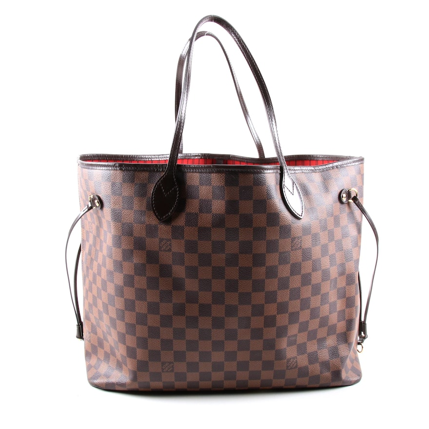 Louis Vuitton Neverfull Voyage MM in Damier Ebene Canvas and Smooth Leather
