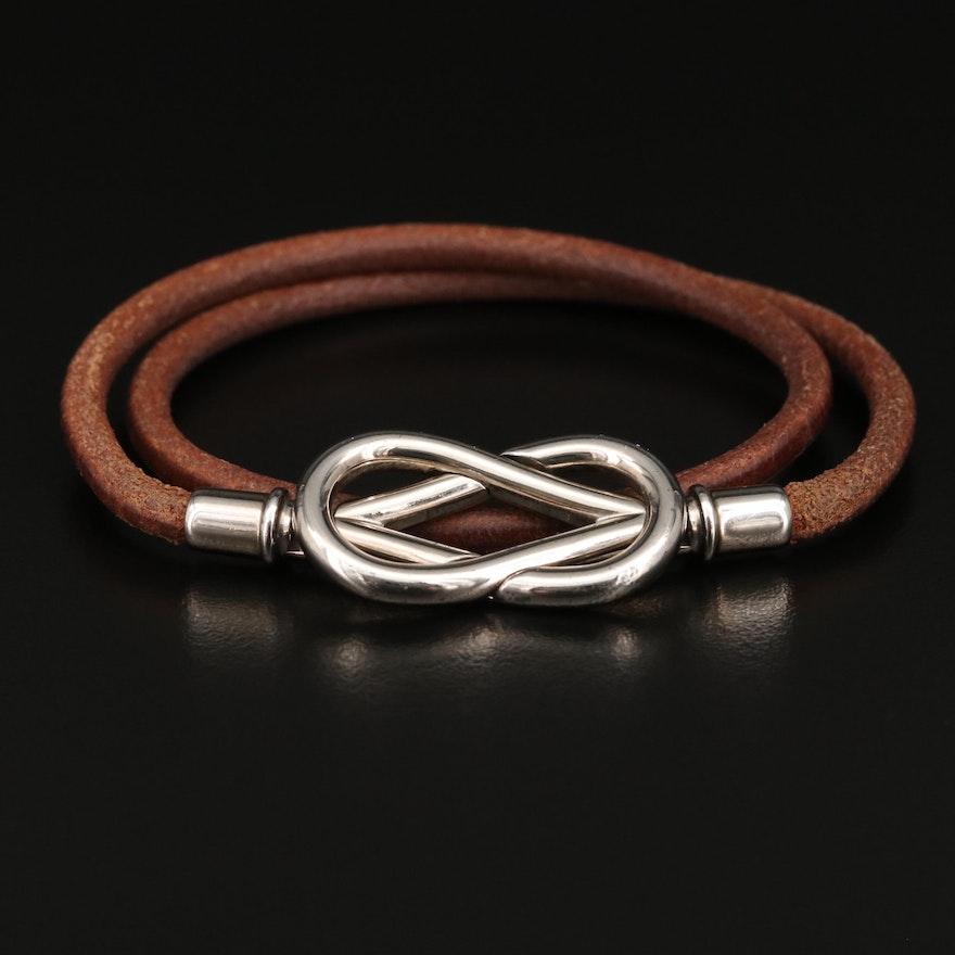 Hermès Infinity Leather Double Wrap Bracelet