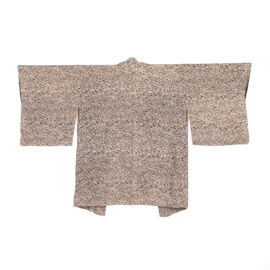 Japanese Silk Komon Haori