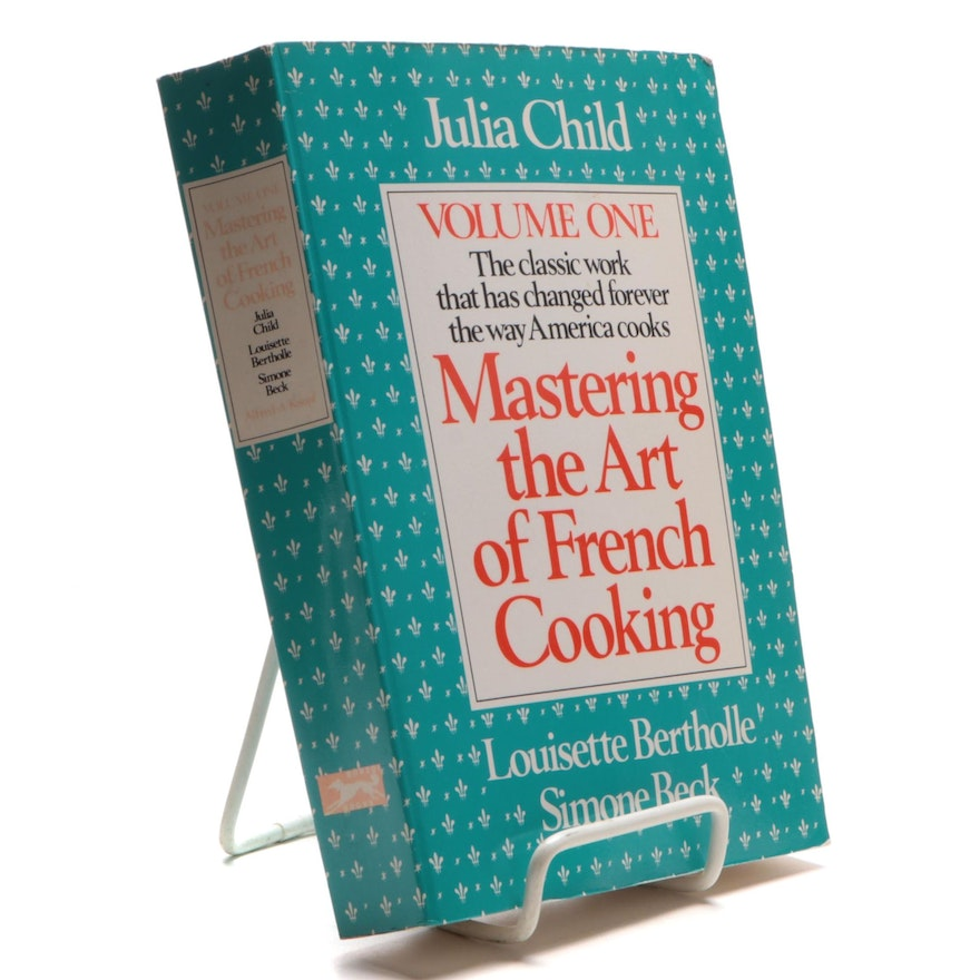 """Signed """"Mastering the Art of French Cooking"""" by Julia Child et al., 1990"""
