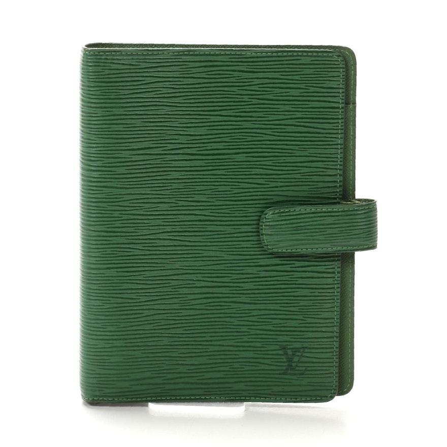 Louis Vuitton Agenda MM Cover in Borneo Green Epi Leather