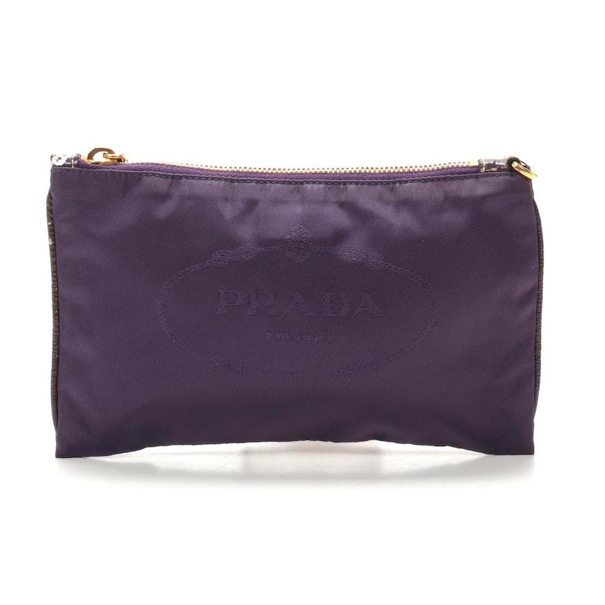 Prada Pochette in Purple Canapa Nylon