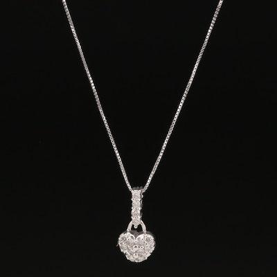 18K Diamond Heart Necklace