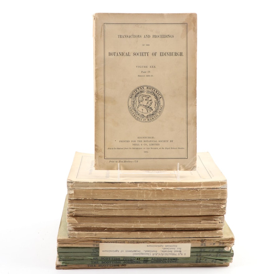 Scottish Botanical and Agricultural Periodicals, Early/Mid 20th Century