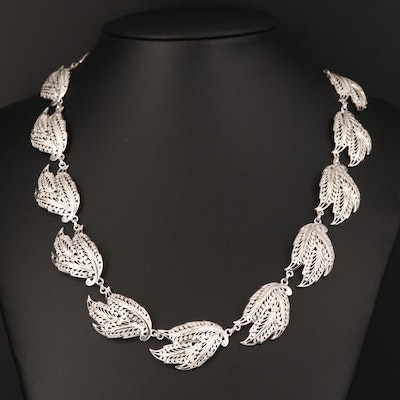 Sterling Folitate Necklace