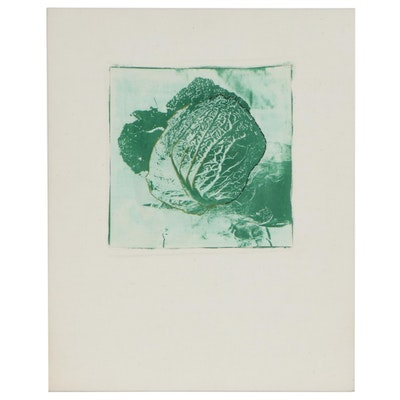"Betty Hahn Mixed Media Print ""Cabbage,"" 1973"