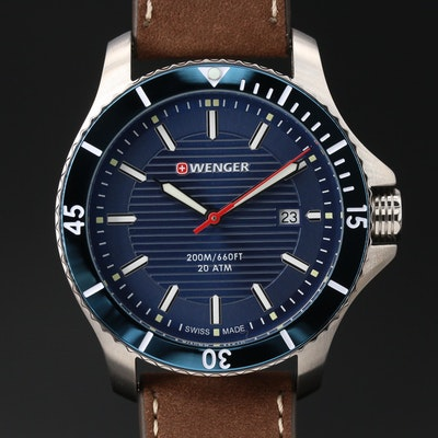 "Wenger ""Seaforce"" Stainless Steel Quartz Wristwatch"