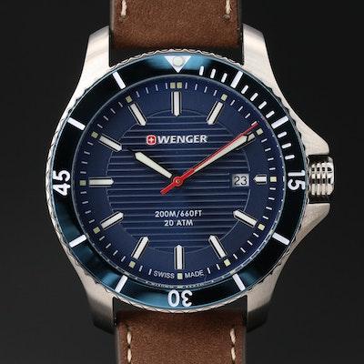 """Wenger """"Seaforce"""" Stainless Steel Quartz Wristwatch"""