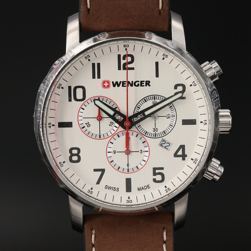 "Wenger ""Attitude Chrono"" Stainless Steel Quartz Wristwatch"