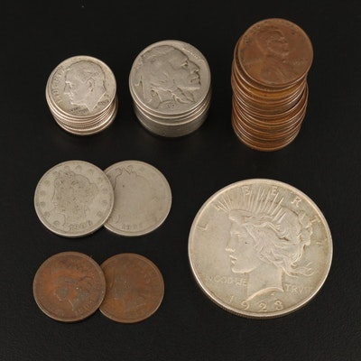 Assortment of Vintage U.S. Coins, Including Silver
