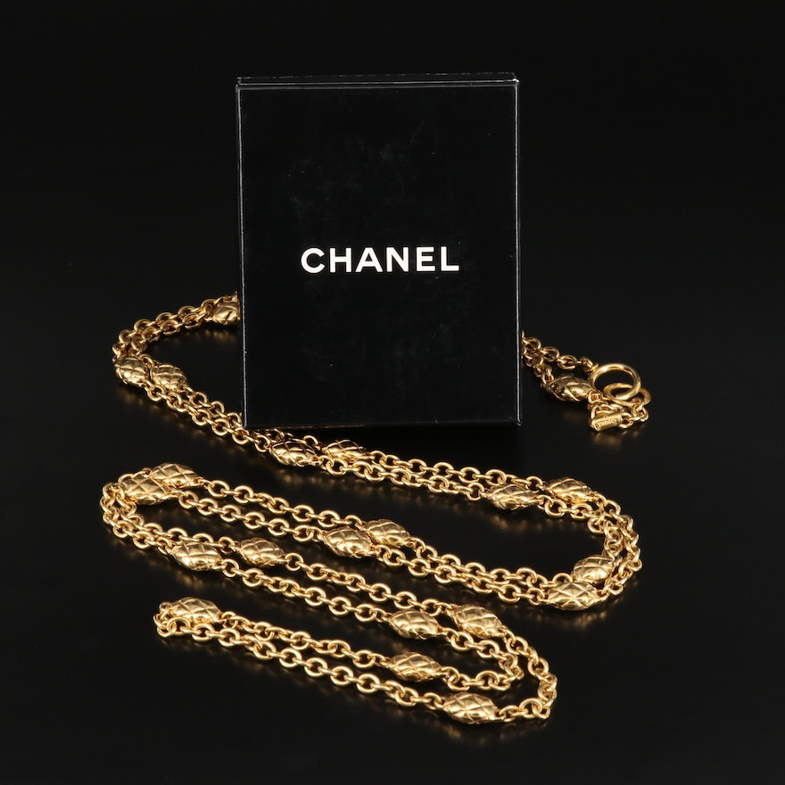 Chanel Station Necklace with Box