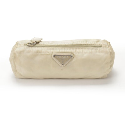 Prada Accessory Pouch in Ivory Tessuto Nylon