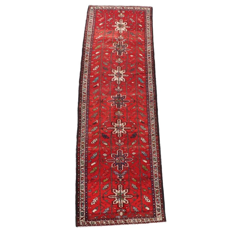 3'4 x 10'9 Hand-Knotted Caucasian Kazak Wool Long Rug