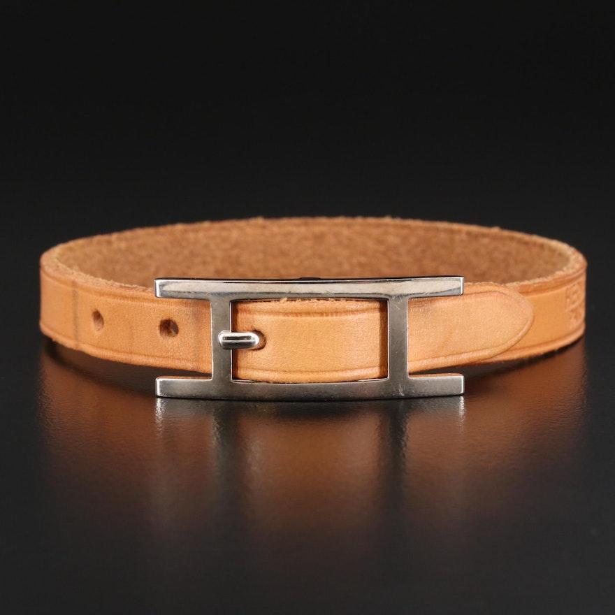 """Hermés """"Hapi"""" Leather Bracelet"""