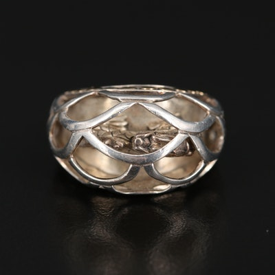"John Hardy ""Naga"" Sterling Ring with 18K Accent"