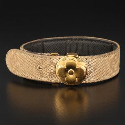 Louis Vuitton Logo Canvas Bracelet
