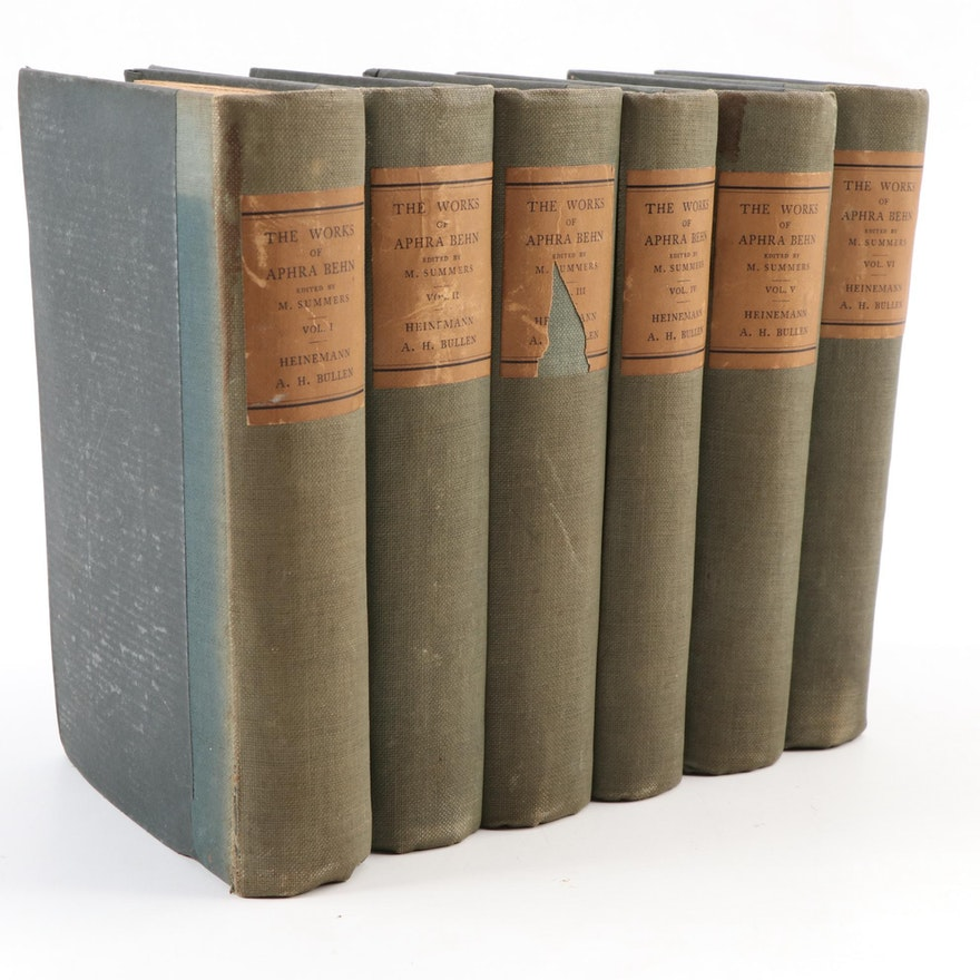"""Limited Edition """"The Works of Aphra Behn"""" Six-Volume Set, 1915"""