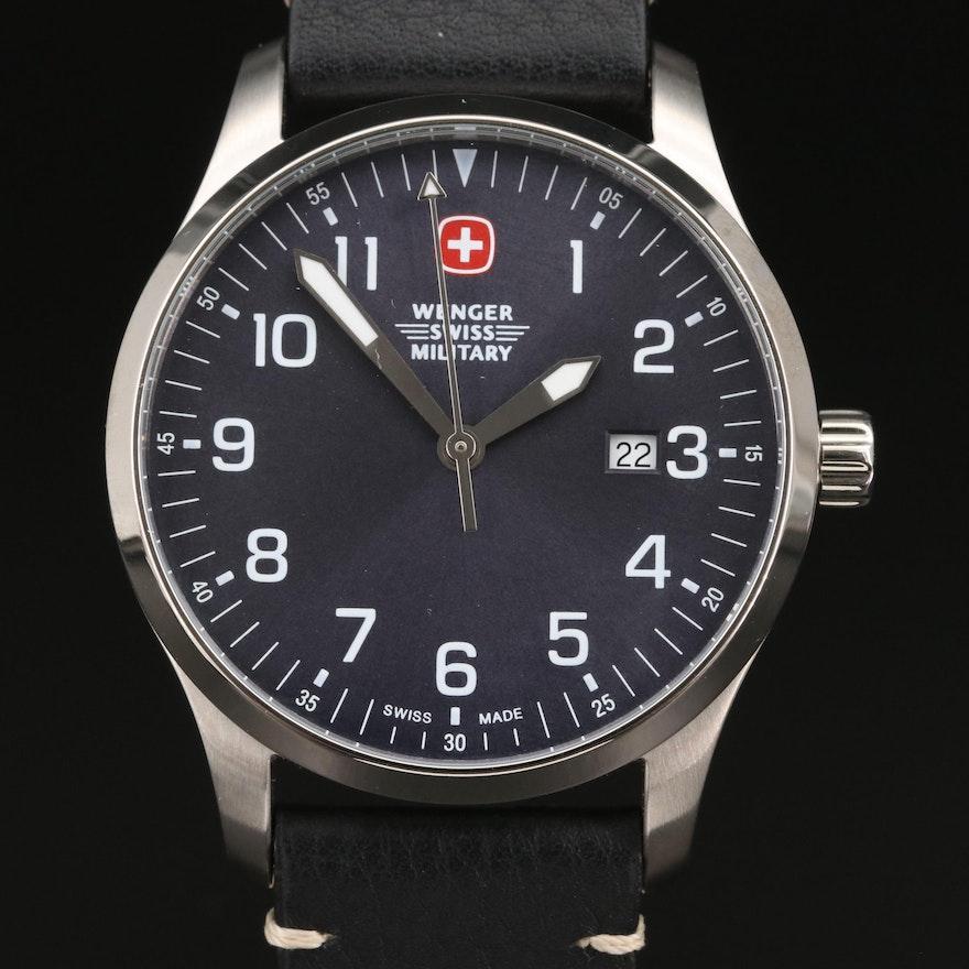 Wenger Terragraph Stainless Steel Quartz Wristwatch