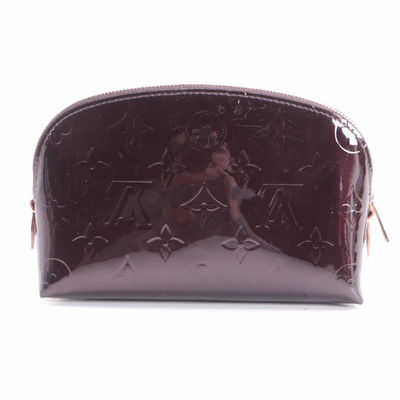 Louis Vuitton Cosmetic Pouch in Amarante Monogram Vernis Leather