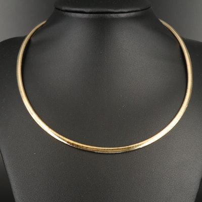 14K Flat Omega Necklace