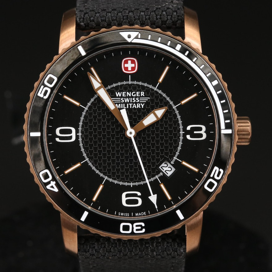 "Wenger ""Swiss Military Roadster"" Bronze Quartz Wristwatch"