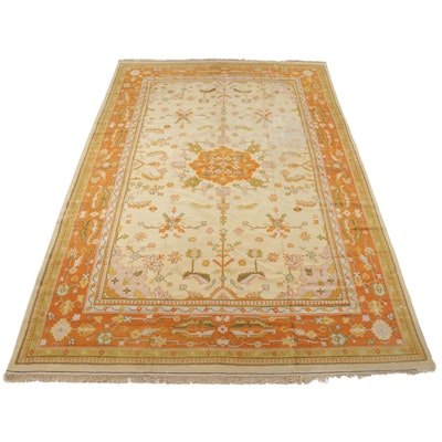 10' x 15'5 Hand-Knotted Turkish Oushak Room Sized Rug