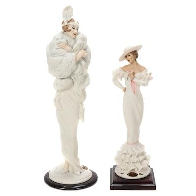 "Giuseppe Armani ""Carmen"" and ""Gwendoline"" Porcelain Figurines"
