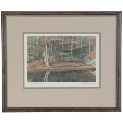 "Offset Lithograph ""Tallulah River,"" Late 20th Century"