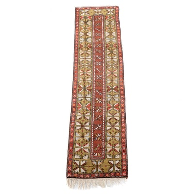2'5 x 10'4 Hand-Knotted Caucasian Kazak Wool Carpet Runner