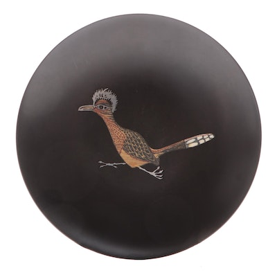 Couroc of Monterey Roadrunner Serving Bowl, Mid-20th Century
