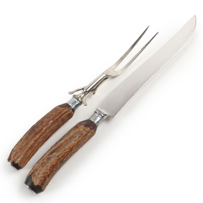 Russell Stainless Steel Antler Handled Carving Set
