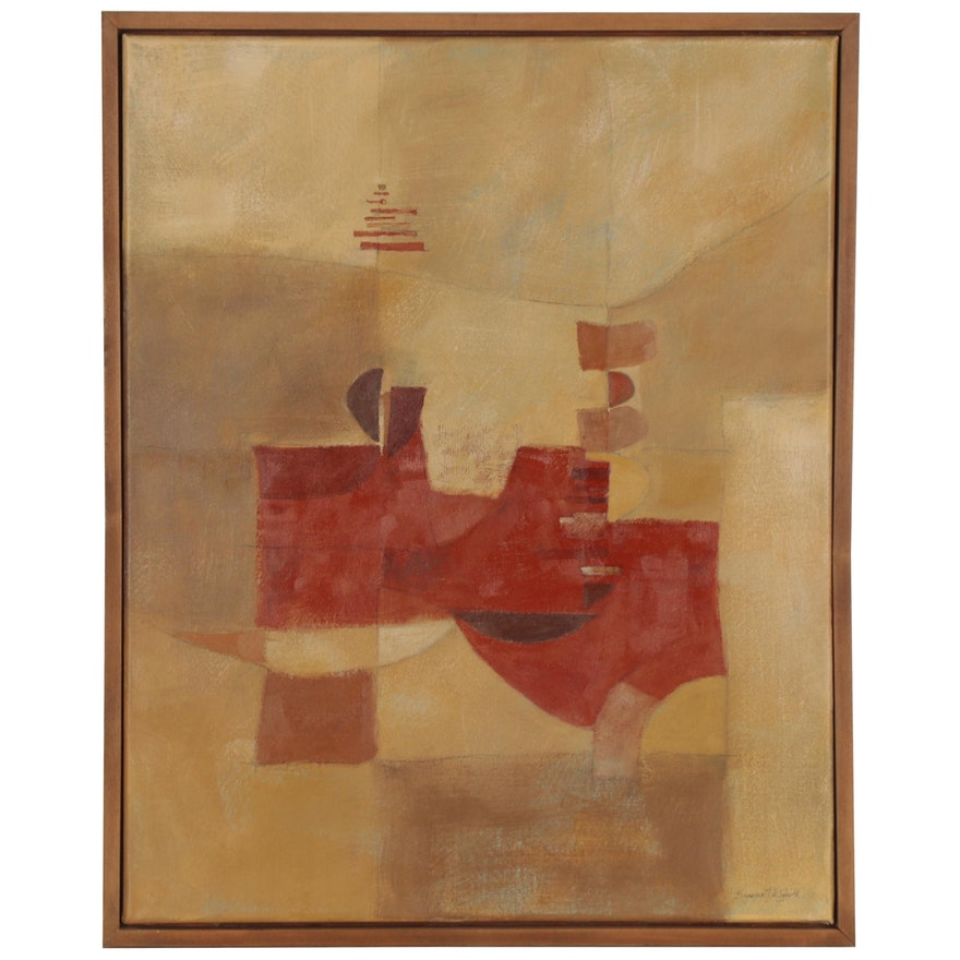 Eugene DeSmith Abstract Oil Painting, 2021
