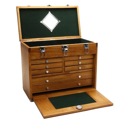 Windsor Design Contemporary Walnut-Stained Machinist's Tool Chest