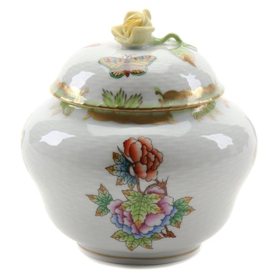 "Herend ""Queen Victoria"" Porcelain Sugar Bowl"