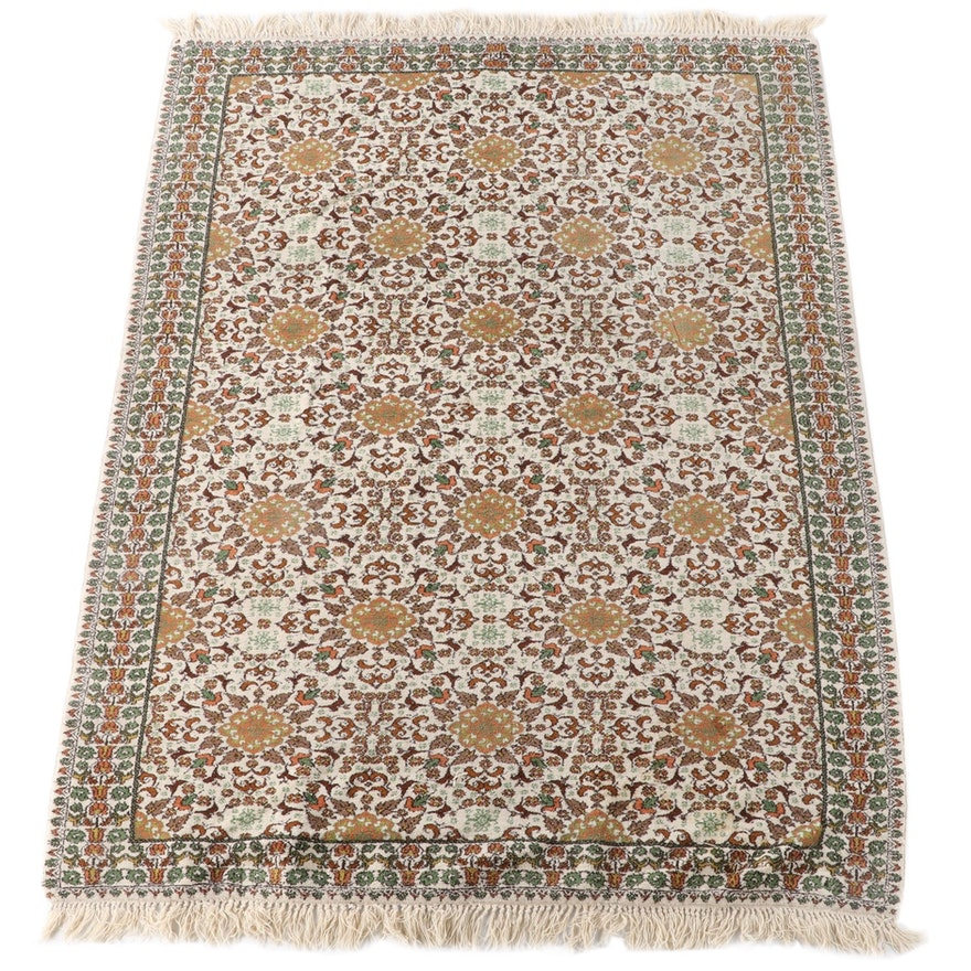 """6'9 x 9'11 Hand-Knotted Artisanat """"Moderne"""" Moroccan Wool Area Rug, 1980s"""