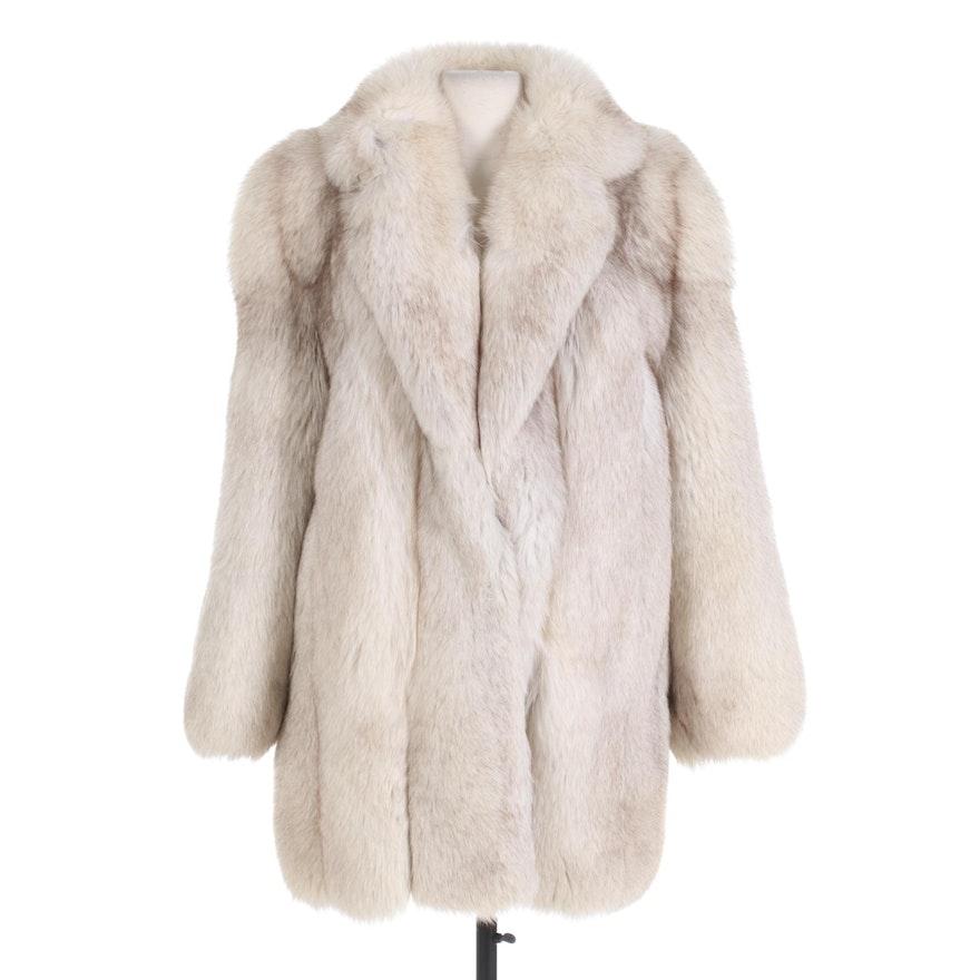 Saga Fox Full Skin Blue Fox Fur Stroller from Horn's Fur Salon