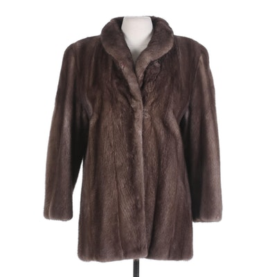 Lutetia Mink Fur Stroller Coat from S. Pollack Exclusive Furrier