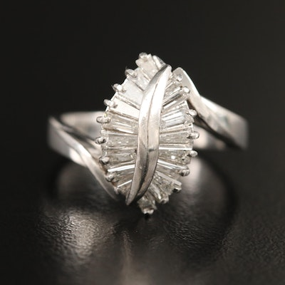 Platinum Diamond Bypass Ring