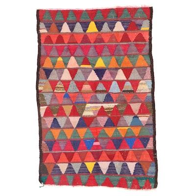 5'1 x 7'7 Handwoven Persian Kilim Wool Rug