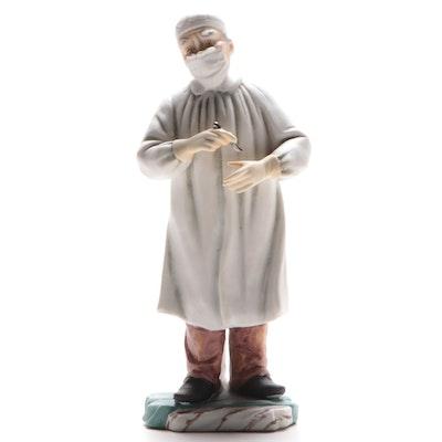 "Andrea by Sadek ""Surgeon with Scalpel"" Porcelain Figurine"