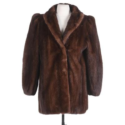 Classic Chestnut Mink Fur Jacket