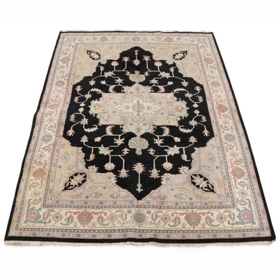 8'6 x 11'8 Hand-Knotted Indo-Persian Heriz Room Sized Rug