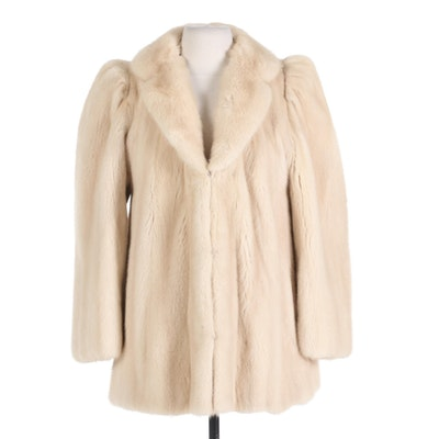 Tourmaline Mink Fur Jacket with Notched Collar from Flemington Furs