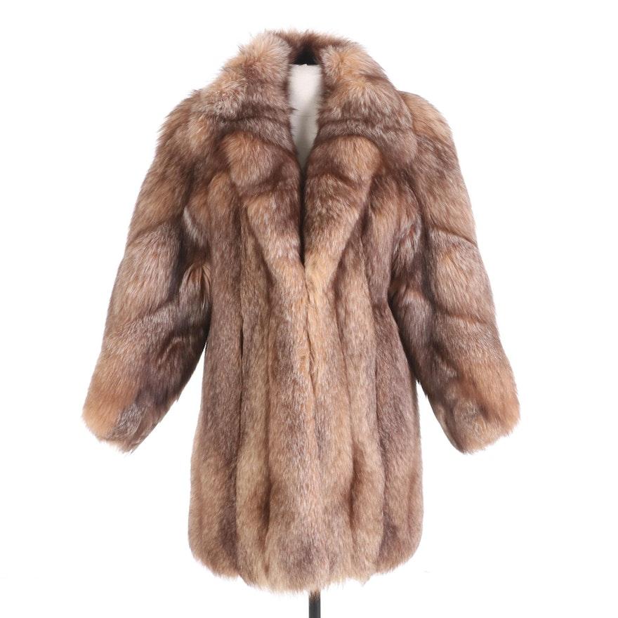 Crystal Fox Fur Stroller Coat